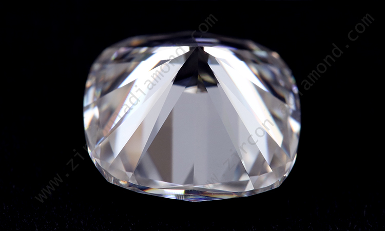 Zirmond cushion cut moissanite 1