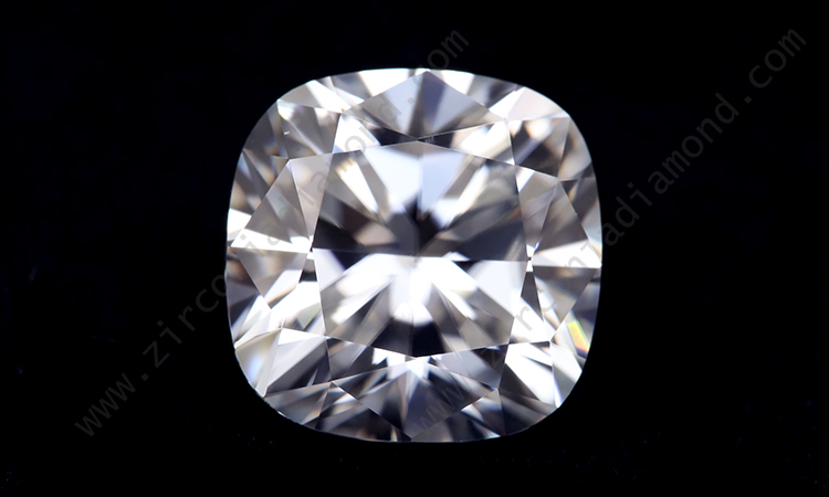 Zirmond cushion cut moissanite