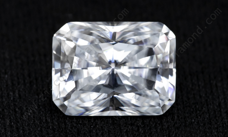 Zirmond radiant cut moissanite