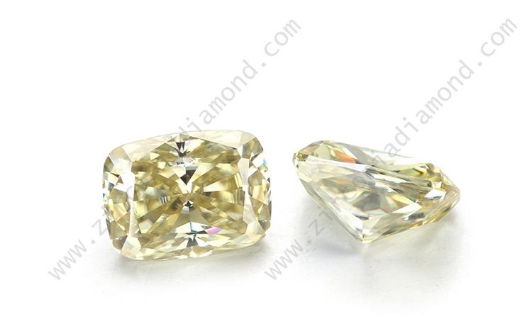 yellow moissanite