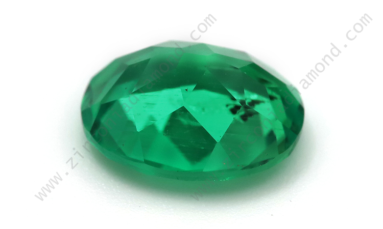 Zirmond oval cut lab created synthetic emerald 2