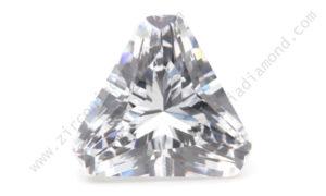 zirmond cut corner triangle cut cubic zirconia
