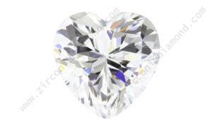 zirmond heart cut cubic zirconia
