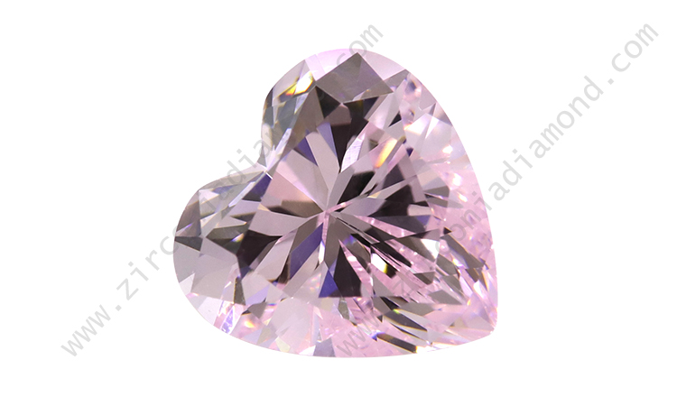 zirmond heart cut light pink cz