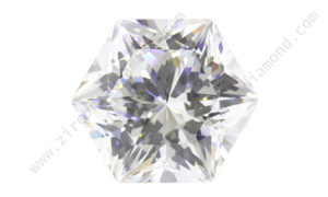 zirmond hexagon shape cubic zirconia
