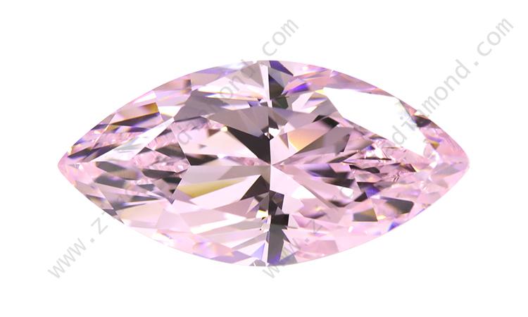 zirmond marquise cut light pink cz