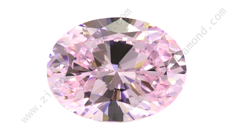 zirmond oval cut light pink cz
