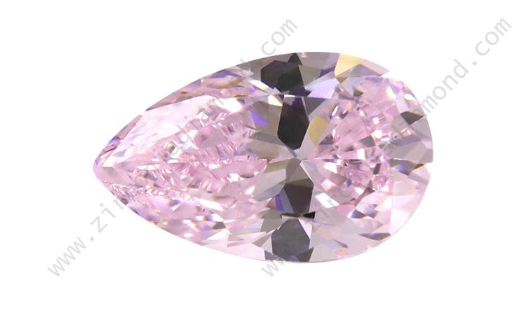 zirmond pear cut light pink cz