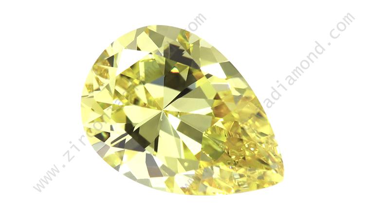 zirmond pear cut light yellow cz