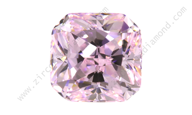 zirmond radiant cut light pink cz