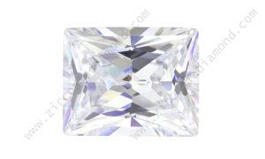zirmond rectangle princess cut cubic zirconia