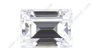zirmond rectangle step cut cubic zirconia