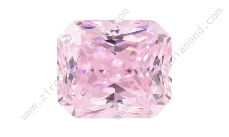 zirmond rectangler light pink cz