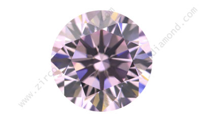 zirmond round brilliant light pink cz