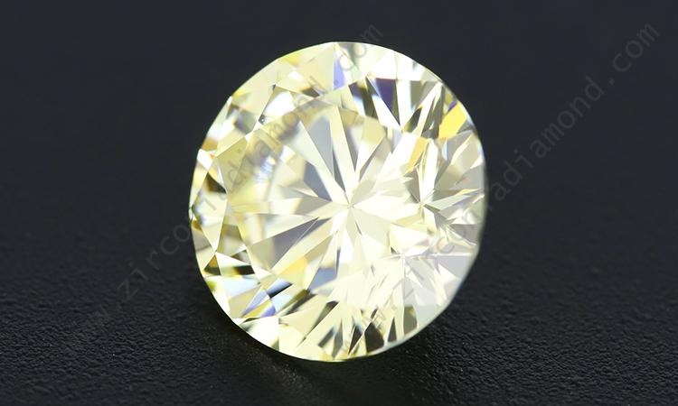 zirmond round brilliant light yellow cz 1