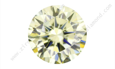 zirmond round brilliant light yellow cz