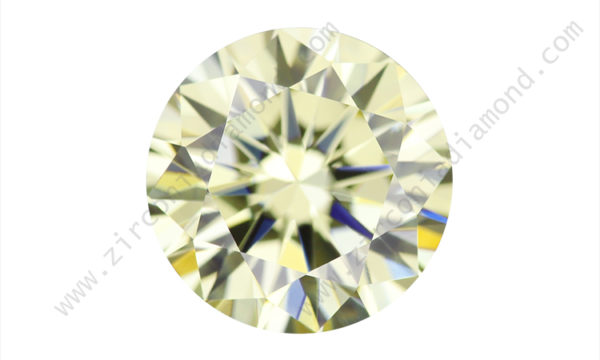 zirmond round brilliant light yellow cz
