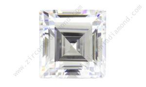 zirmond square step cut cubic zirconia