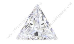 zirmond triangle cut cubic zirconia